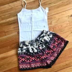 Drawstring Shorts with Free bonus NWT Camisole!